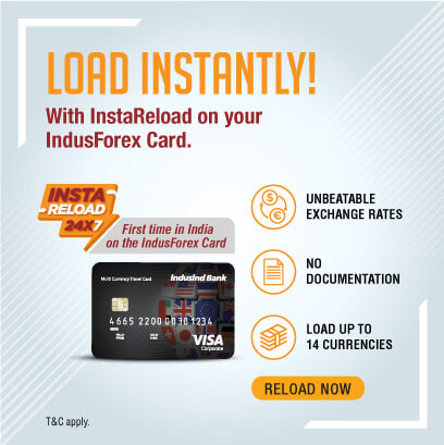 Reload multi currency forex card online