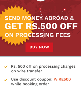 Offers on International Money Transfer